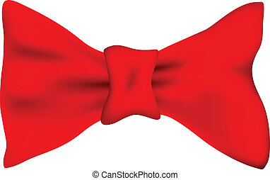 bow tie - red bow tie against white background, abstract...