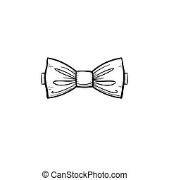Bow tie hand drawn sketch icon.
