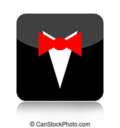 Bow tie icon isolated on white background