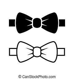 Bow Tie Icons Set