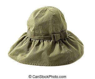 Bow tie strap green hat