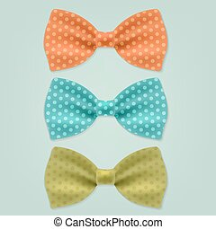 Bow Tie With Gradient Mesh, Vector Illustration