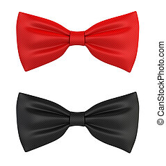 Bow ties. 3d illustration isolated on white background