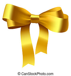 Bow - Vector illustration of a golden bow