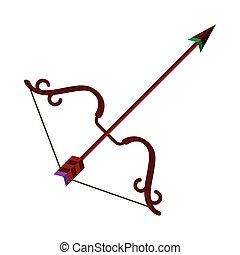 bow with arrow vector design