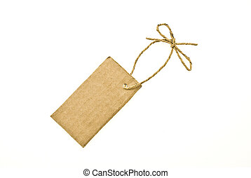 Bow with cardboard tag