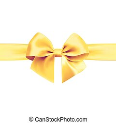 Bow with ribbon isolated on white background.