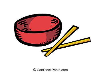 Bowl and chopstick