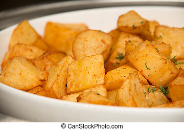 bowl container full of fried potato