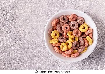 bowl., dzwoni, barwny, zboże