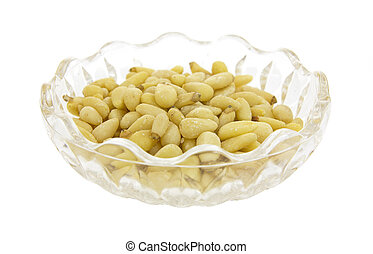 Bowl filled with pine nuts