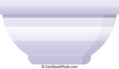 Bowl - Flat colour illustration of a bowl