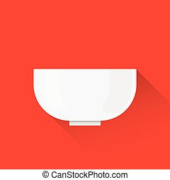 Bowl. Flat design. Vector illustration.