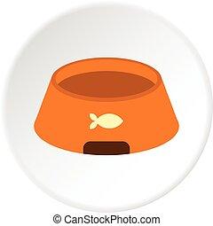 Bowl for animal icon circle