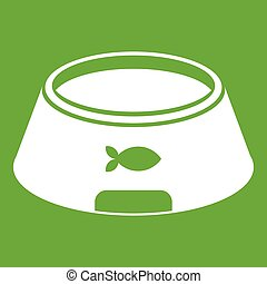 Bowl for animal icon green