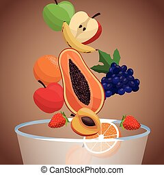 bowl fruit healthy diet