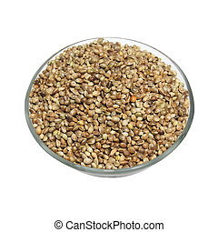 bowl full of hemp seeds isolated