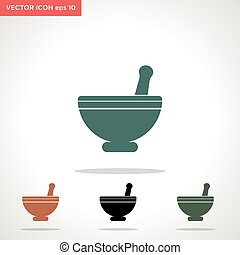 bowl, herb vector icon isolated on white background