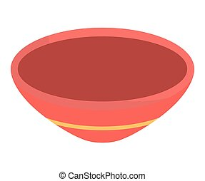 Bowl icon. Bakery design. Vector graphic