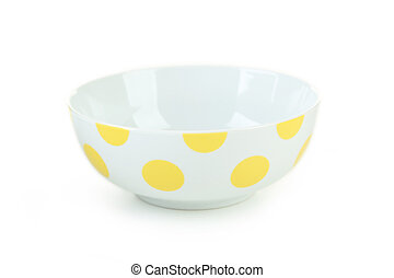 Bowl isolated on a white