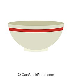 bowl kitchen utensils icon isolated