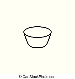 bowl line icon on white background
