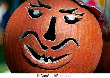 Bowl made as a Halloween pumpkin 1
