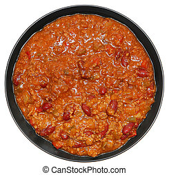 Bowl of Beef and Bean Chili