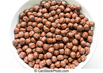 Bowl Of Breakfast Chocolate Balls