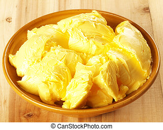 bowl of butter