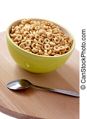 bowl of cereal for breakfast