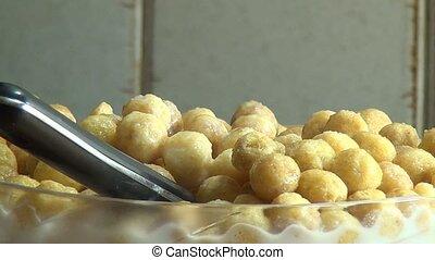 Bowl of Cereal, Milk, Grains