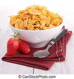 bowl of cereal with berries fruits
