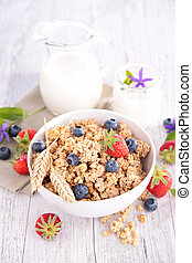 bowl of cereal with berry fruit
