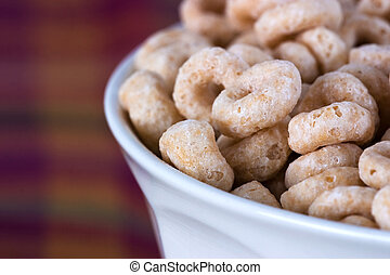 Breakfast Series - Close-up of a blowl of cheerios cereal