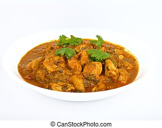 Bowl of chicken curry - Bowl of traditional Indian chicken ...