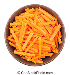 Bowl Of Chopped Carrots