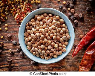 bowl of coriander seeds