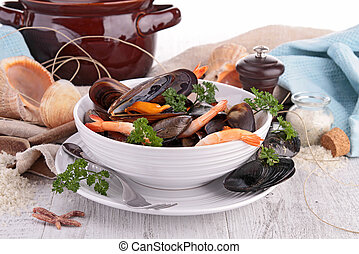 bowl of crustacean soup