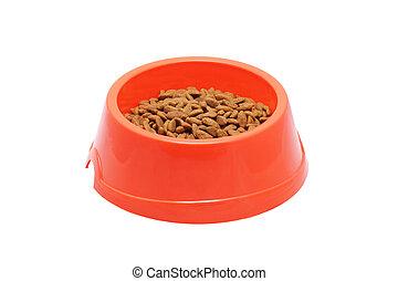 Bowl of dog food.