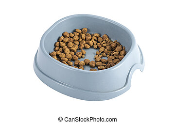 bowl of dry cat food...