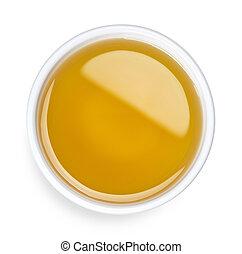 Bowl of extra virgin olive oil
