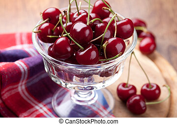 bowl of  fresh cherry