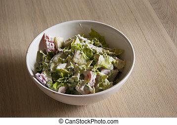 Bowl of fresh vegetable salad