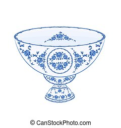 Bowl of fruit faience vintage