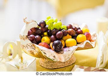 Bowl of healthy fresh fruit