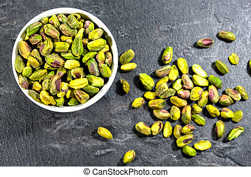 Bowl of Healthy Pistachio Nuts