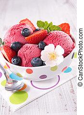 bowl of ice cream ball