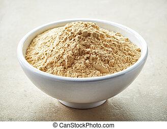 bowl of maca powder