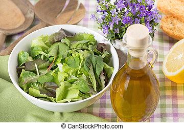 bowl of mixed salad,